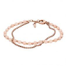Fossil Rose Gold Plated Two Strand Crystal Bracelet JA6851791