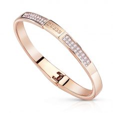 Guess G Colours Rose Gold Crystal Logo Bangle UBB84086-S