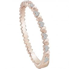 Guess Heart Bouquet Rose Gold Plated Heart Bangle UBB85106-L