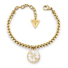 Guess Summer Love Four G Gold Plated Logo Bracelet UBB78125-L