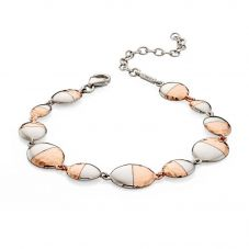 Fiorelli Ladies Two Tone Hammered Oval Bracelet B4835