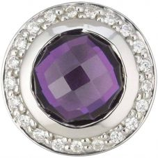 Story Small Silver Clear and Purple Cubic Zirconia 4208888
