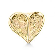 Story Sterling Silver Gold Plated Heart Charm 5008951