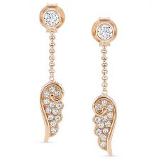 Nomination Angel Rose Gold Plated Sparkling Wing Dropper Earrings 145340/011