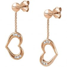Nomination Unica Rose Gold Plated Heart Dropper Earrings 146409/002