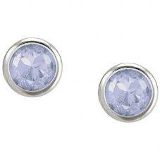 Nomination Bella Silver Blue Crystal Stud Earrings 146644/036