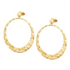 Nomination Luna Gold Plated Cresent Moon Hoop Earrings 140450/012