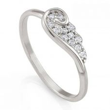 Nomination Angel Silver Sparkling Wing Ring 145335/010/021