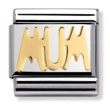 Nomination CLASSIC Gold Writings Mum Charm SINGLE 030107/14