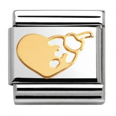 Nomination CLASSIC Gold Madame Monsieur Heart Cherry Charm 030162/04