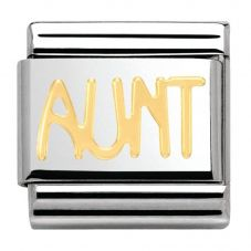 Nomination CLASSIC Gold Writings Aunt Charm 030107/16