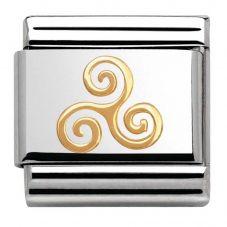 Nomination CLASSIC Gold Celtic Triskele Charm 030119/06