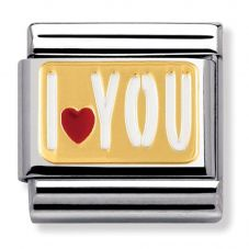 Nomination CLASSIC Gold Messages I Love Heart You Charm 030261/27