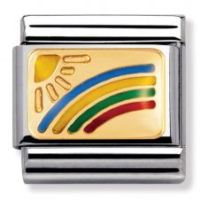 Nomination CLASSIC Gold Daily Life Rainbow and Sun Charm 030208/01