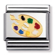 Nomination CLASSIC Gold Daily Life Artist Palette Charm 030208/04