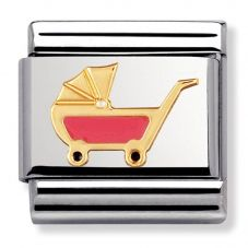 Nomination CLASSIC Gold Daily Life Pink Pram Charm 030208/49