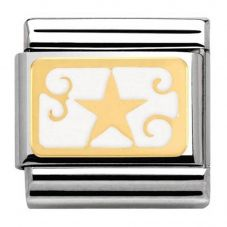 Nomination CLASSIC Gold Christmas White Star Charm 030282/14
