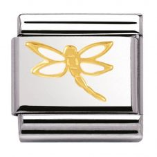 Nomination CLASSIC Gold Nature Dragonfly Charm 030278/07