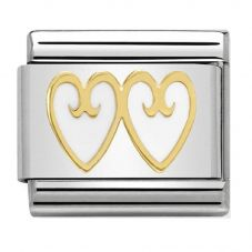 Nomination CLASSIC Gold Elegance Double Heart Charm 030279/13