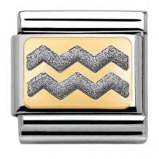Nomination CLASSIC Gold Elegance Silver Zig Zag Charm 030280/40