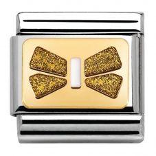 Nomination CLASSIC Gold Elegance White Bow Charm 030280/42