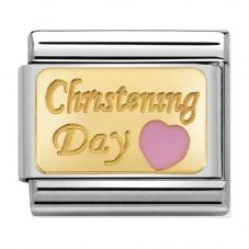 Nomination CLASSIC Gold Pink Heart Christening Charm 030284/22