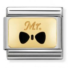Nomination CLASSIC Gold Mr Bow Tie Charm 030284/25