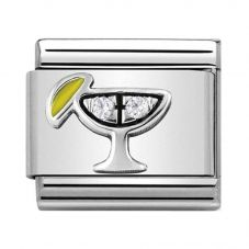Nomination CLASSIC Silvershine Symbols Cocktail With White Cubic Zirconia Charm 330304/30