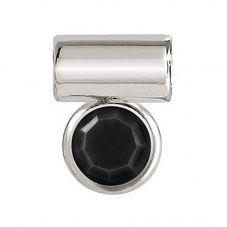 Nomination Seimia Round Black Cubic Zirconia Charm 147114/011