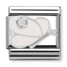 Nomination CLASSIC Silvershine  White Butterfly Charm 330305/08