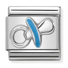 Nomination CLASSIC Silvershine Symbols Blue Dummy Charm 330202/40
