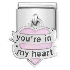 Nomination CLASSIC Silvershine You Are In My Heart Drop Charm 331805/06