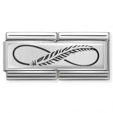 Nomination CLASSIC Silvershine Infinity Feather Double Charm 330710/12