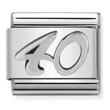 Nomination CLASSIC Silvershine Oxidised Symbols 40 Charm 330101/23