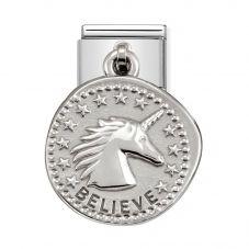 Nomination CLASSIC Silvershine Wishes Believe Charm 331804/02