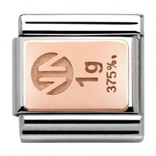 Nomination CLASSIC Rose Gold Gold Bar Charm 430102/01