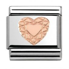 Nomination CLASSIC Rose Gold Vintage Heart Charm 430104/19