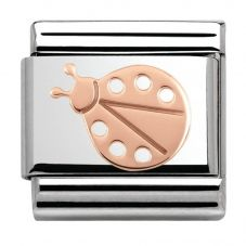 Nomination CLASSIC Rose Gold Plates Ladybird Charm 430104/07