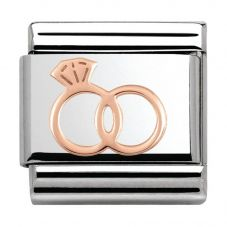 Nomination CLASSIC Rose Gold Plates Wedding Rings Charm 430104/13