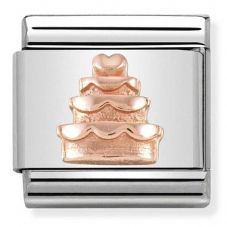 Nomination CLASSIC Rose Gold Relief Tiered Cake Charm 430106/02