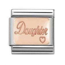 Nomination CLASSIC Rose Gold Plates Daughter Charm 430101/43