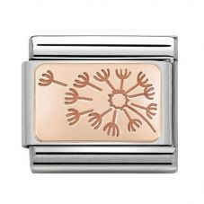 Nomination CLASSIC Rose Gold Dandelion Clock Charm 430101/48