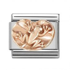 Nomination CLASSIC Rose Gold Frog On Lily Pad Charm 430106/09