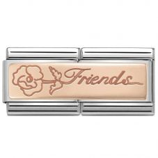 Nomination CLASSIC Rose Gold Double Friends With Flower Charm 430710/16
