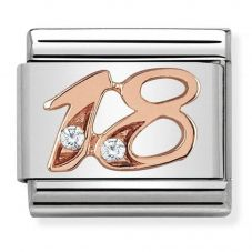 Nomination CLASSIC Rose Gold Number 18 Charm 430315/18