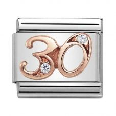 Nomination CLASSIC Rose Gold Numbers 30 Charm 430315/30