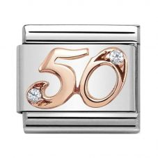 Nomination CLASSIC Rose Gold Numbers 50 Charm 430315/50