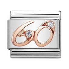 Nomination CLASSIC Rose Gold Numbers 60 Charm 430315/60