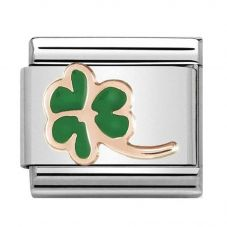 Nomination CLASSIC Rose Gold Green Clover Charm 430202/01