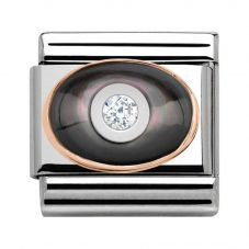Nomination CLASSIC Rose Gold Black Pearl Charm 430504/03